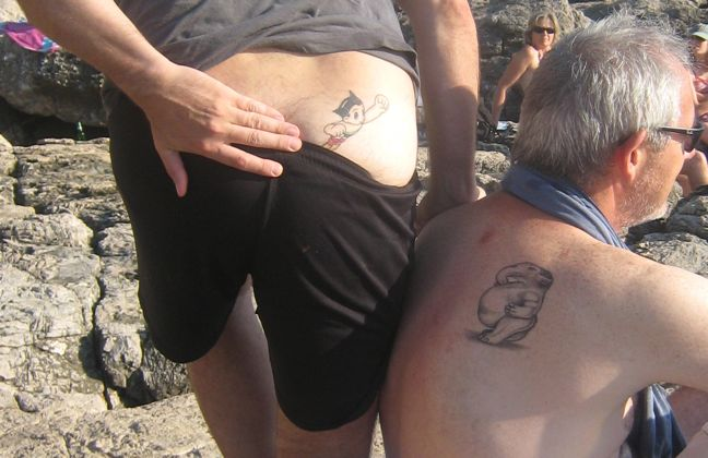 David and Fred's gay marriage commemorative tattoos